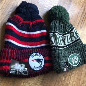 NFL New Era Optional Pom Knit Winter Hats NWT